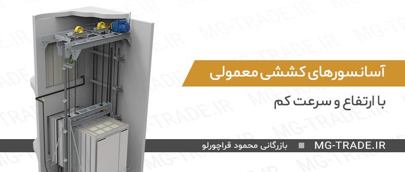 سیم بکسل برای  آسانسورهای کششی معمولی با ارتفاع و سرعت کم سیم بکسل مناسب برای آسانسور نحوه انتخاب سیم بکسل مناسب برای آسانسور
